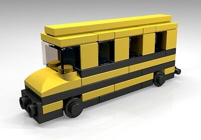 Constructibles  Lego School Bus Mini Model   Lego  Parts   Instructions Kit