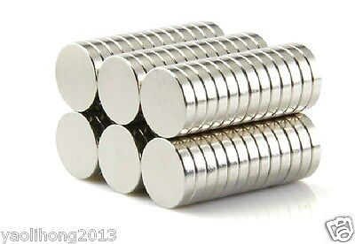 100 Pcs Super Strong Round Disc 10 x 2 mm Magnets Rare Earth Neodymium N35