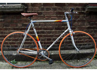 Single speed bike PEUGEOT frame 23inch built BY US NEW TYRES, DICTA 18T, CHAIN, BAR, GRIPS