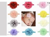 Chiffon baby head bands