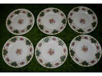 Set of 6 Royal Albert BERKELEY DINNER PLATES 1st qualty Excellent Condition