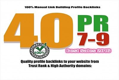 40 Pr9 Top Quality Backlinks From Pr 9 High Authority Sites Google Friendly Seo