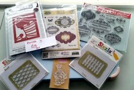 FOR SALE Sue Wilson/Spellbinders/Sizzix/Dies/stamps/stencils for card making/scrapbooking/crafting