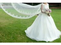 Custom Made White Wedding Dress (Size 8 -10)