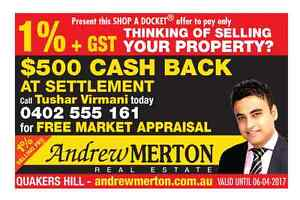Sell Your Property With us and get $500 voucher Blacktown Blacktown Area Preview