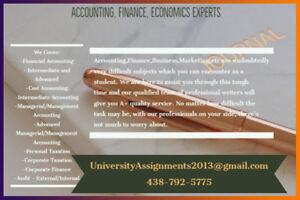 Montreal's TOP Accounting/finance Assignment Help