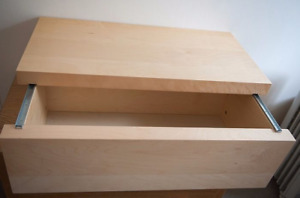 Ikea Malm Chest [coffee table] Storage box with sliding lid