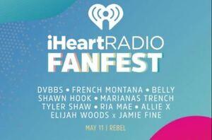 2 iHeart Radio Fan Fest Tickets