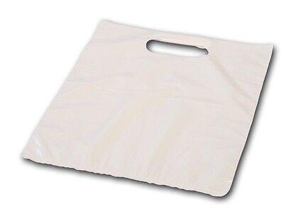 500 x DKT Tragetaschen Plastiktüten Plastikbeutel  35my Tüten 38+45x40cm weiß