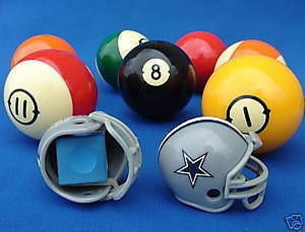 2 Dallas Cowboys Pool Billiard Cue With Master Chalk Nfl Football Helmet Holders Ebay