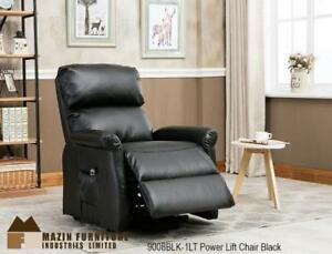 Black power lift reclining chair MA10 9008BLK-1LT  (BD-1365)