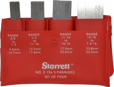 Starrett 38 To 1-516 Inch Adjustable Parallel Set 1-34 To 3-916 Inch Long...