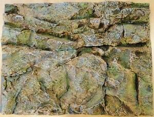 Stone Rock Wall Aquarium Fish Tank Vivarium Reptile 3D Background 60x45cm BG9016