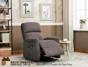 Power non leather recliner chair in grey  (MA836)