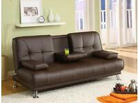 Sofa Bed Leather Brown Or Black