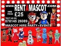 PAW PATROL MARSHALL CHASE CBEEBIES IGGLE PIGGLE UPSY DAISY MASCOT FANCY DRESS COSTUME KIDS PARTY