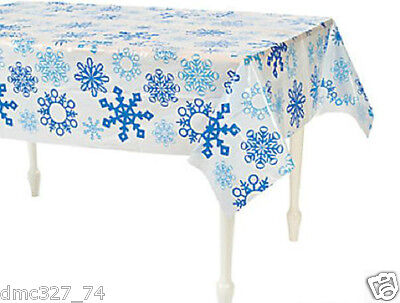 CHRISTMAS Winter Party Plastic SNOWFLAKE Table Cover 56