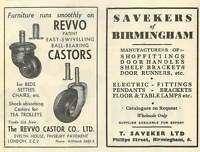 1953 Revvo Castor Co T Saveker B'ham Fittings Ad -  - ebay.co.uk