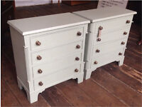 Pair Of Painted Bedside Chests