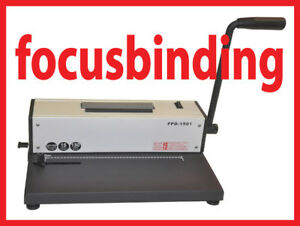 New Metal Based Coil Spiral Binding Machine w/ Electric Inserter