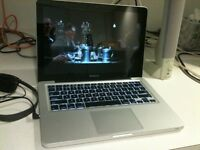Apple MacBook Pro 13 inch Core 2.4 Ghz 4gb Ram 500 HD Logic Pro 9 & Pro X, Adobe, Final Cut Pro