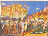 Fairground circus poster by Wilsons Show Printers Leicester
