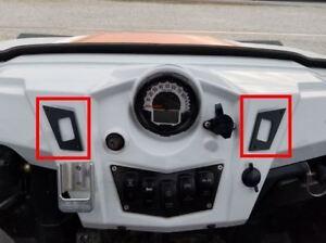 Polaris RZR 800, 800S, 900xp, 570 Dash Rocker Switch Plates Left Right of Speedo