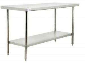 Omcan Professional Stainless Steel Kitchen Chef Prep Table 24x48