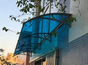 40W×30L Polycarbonate Awning for Window & Door House canopy UV protected   MODEL: 190122 Color: Blue