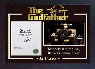 Al Pacino film The Godfather signed autograph picture Movie Michael Corleone A