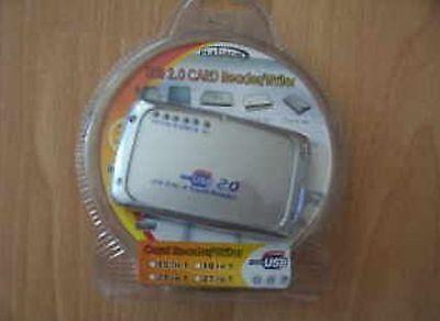 Card Reader Kartenleser 23 in 1 mit Mini USB Kabel alle gängigen Speicherkarten