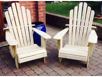 ADIRONDACK CHAIRS Wooden Garden Furniture Patio Chairs