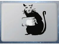 Anarchy Rat Banksy vinyl sticker decal laptop ipad Anarchist car window optional