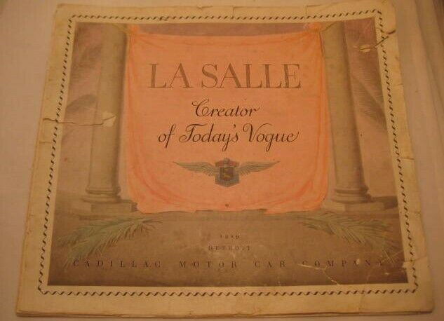 Old Original 1929 Cadillac LaSalle Large Advertising Catalog