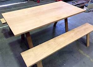 Dining Tables Solid Antique Timber Trestle Silky Oak 8 Seater Tempe Marrickville Area Preview