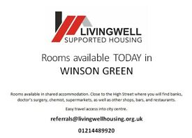 Rooms Available in Winson Green TODAY