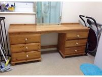 Vanity dressing table / sideboard / chest of drawers
