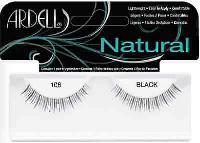 (LOT OF 72) Ardell Natural Lashes #108 False Fake Eyelashes Black Short Fashion