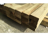 "🌲Easy Edge Wooden Tanalised Lengths/ Rails • 4""X 2""X 14Ft •"