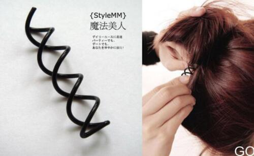 GOUS 10pcs 1set New Metal Spiral Spin Screw Pin Hair Clip Twist Barrette 2