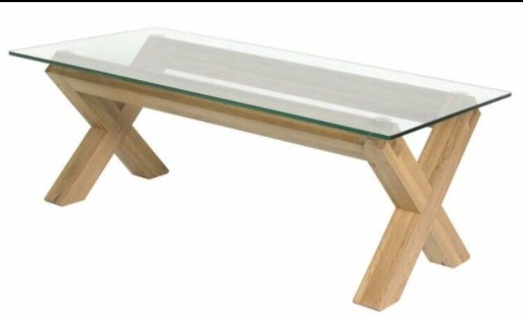 Oak and Glass coffee table Brand NEW *REDUCED*