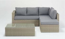 Rattan sofa with table