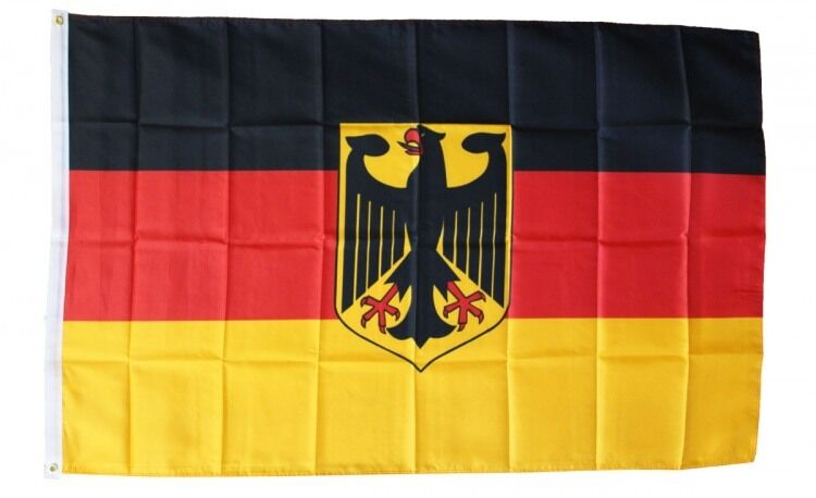 GERMANY WITH EAGLE FLAG 3 x 5 FOOT FLAG -NEW HIGHER QUALITY ULTRA KNIT 3x5