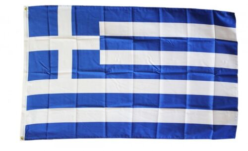 GREECE FLAG 3 x 5 FOOT FLAG -  NEW HIGHER QUALITY ULTRA KNIT 3x5