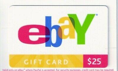 Vintage Ebay Gift Cards Overlapping Lettering NO CASH VALUE