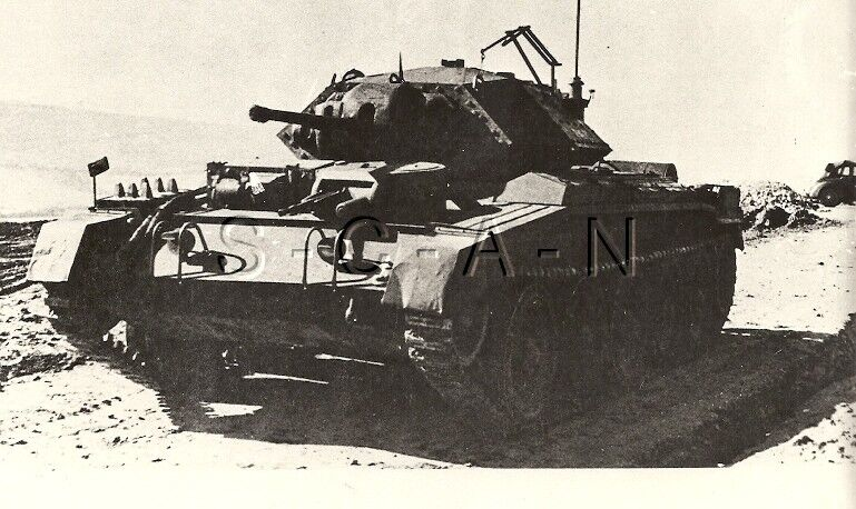 WWII English UK Tank- Africa- Cruiser- Crusader- Large Private Archive Photo