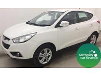 £203.93-WHITE 2012 HYUNDAI IX35 1.6 GDI STYLE 2WD STATION WAGON MANUAL PETROL