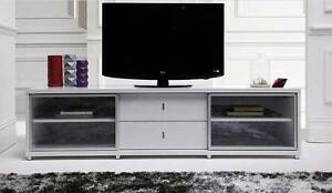 NICK SCALI WOOD & METAL HIGH GLOSS WHITE ENTERTAINMENT TV UNIT Maribyrnong Maribyrnong Area Preview