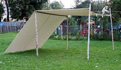 3 x 4m LARP Reenactment Sonnensegel Lagerplane Mittelalter Zelt frame Wikinger