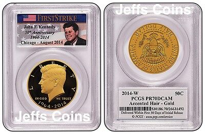 Click now to see the BUY IT NOW Price! 2014 W GOLD KENNEDY HALF 50 ANNIVERSARY PCGS PROOF 70 CHICAGO ANA RELEASEBOX